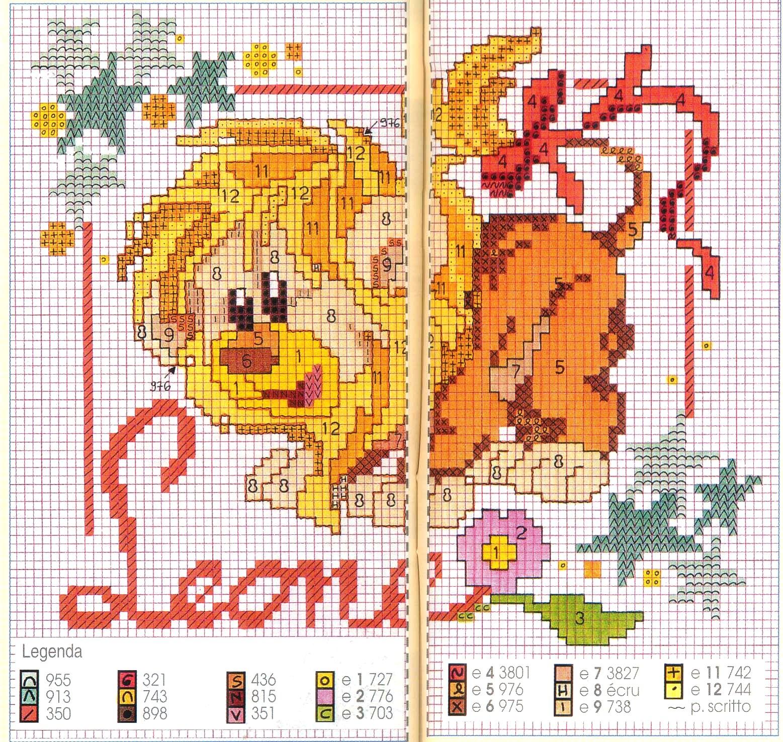 Схема вышивки знака зодиака лев 60
