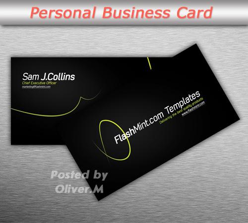 Stylish Business Card - PSD template