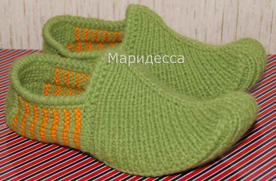 Тапочки спицами на knitka ru 10 схем вязания тапочек бесплатно