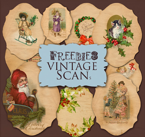 Scrap kit - Vintage Christmas Labels
