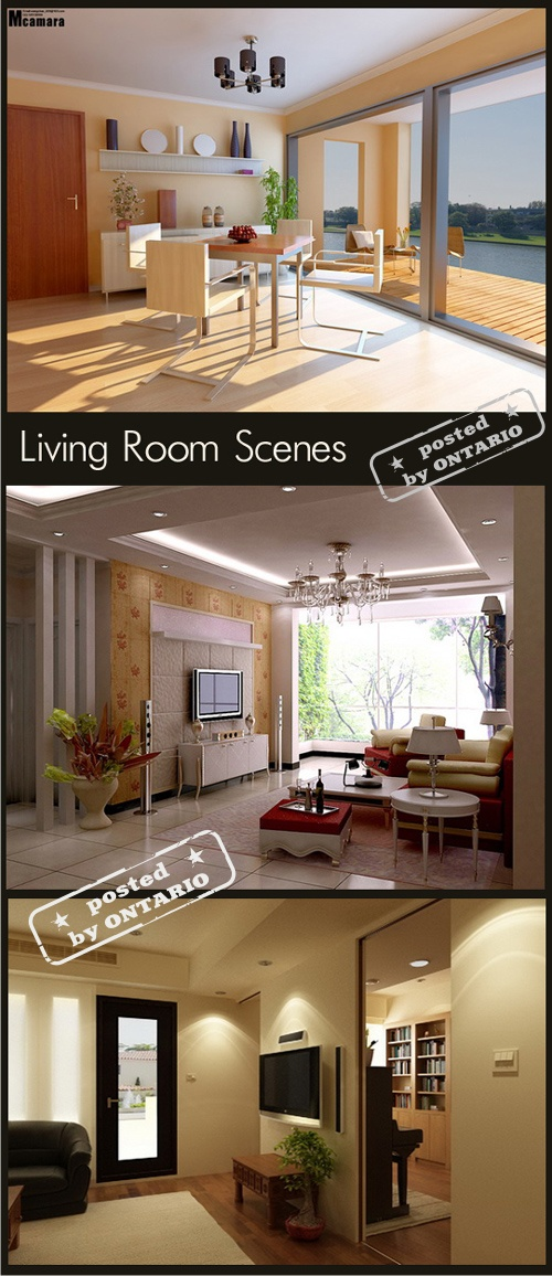 Living Room Interiors, Set 2