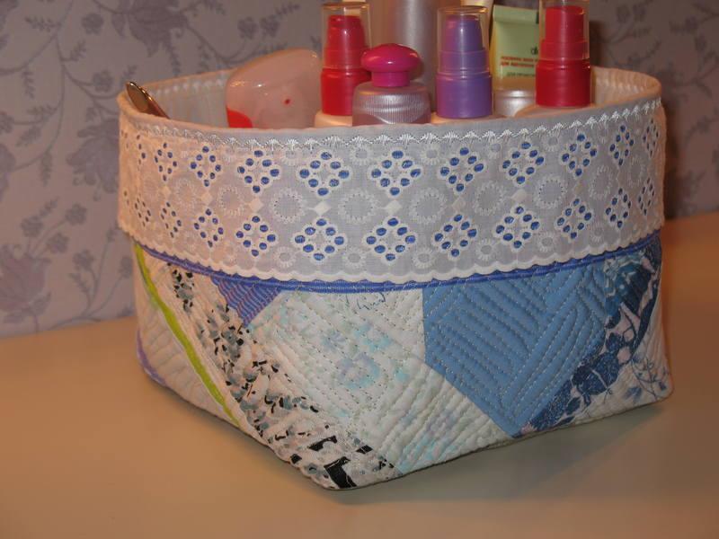 Текстильная коробка для хранения вещей своими руками 191
