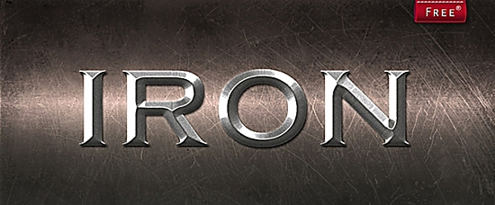 Iron Photoshop Style