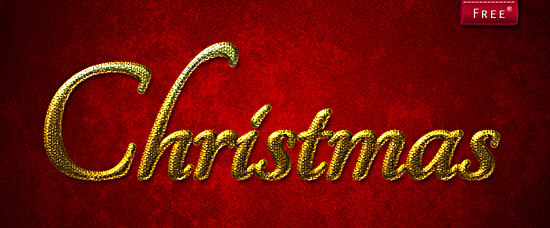 Golden Christmas Style for Photoshop