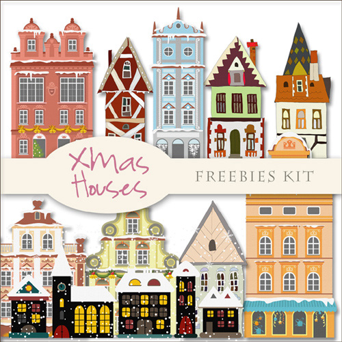 Scrap kit - Christmas Houses