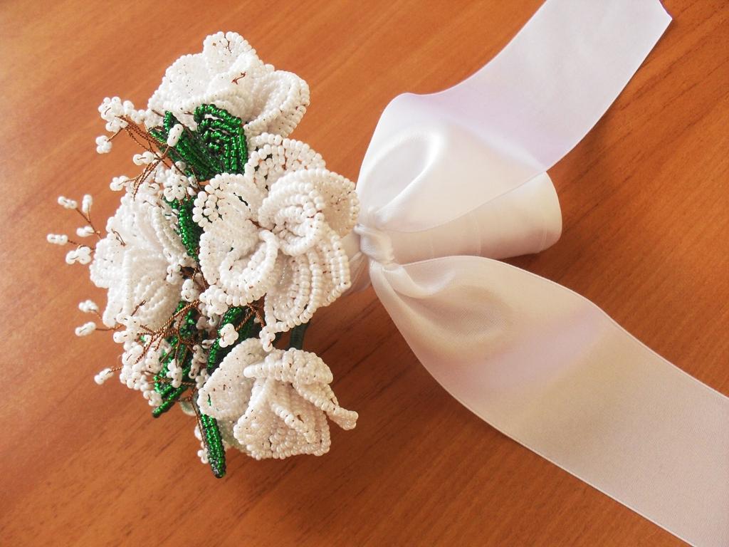 Букет невесты из бисера своими руками 60