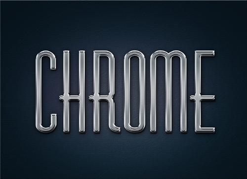 Metal styles for Photoshop - Chrome 3D text