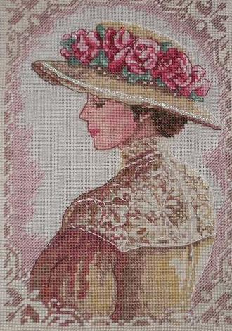 Элегантный портрет вышивка крестом