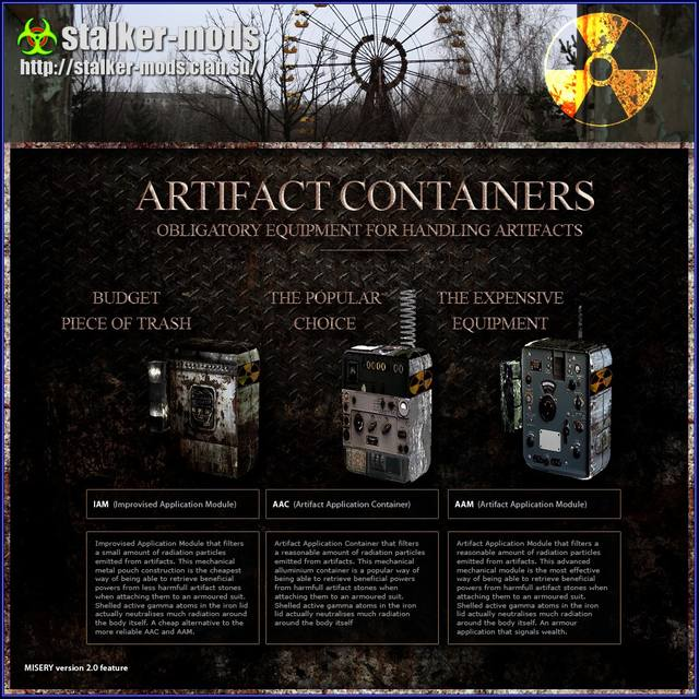 MISERY artifactcontainers