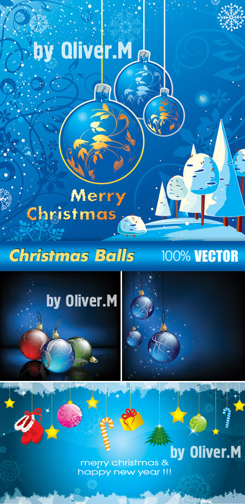 Vector Backgrounds with Christmas balls