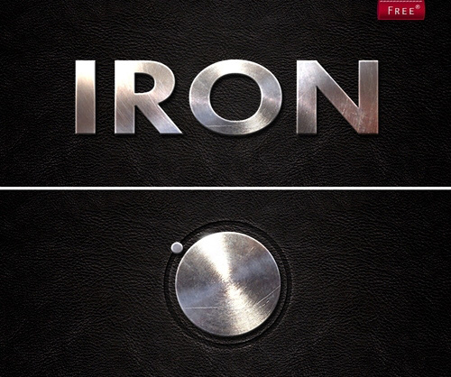 Iron Metal Style for Photoshop