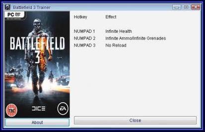 Battlefield 3 трейнер в картинках