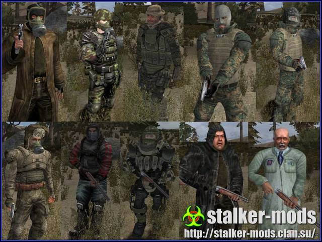 сталкер мод -новые персонажи