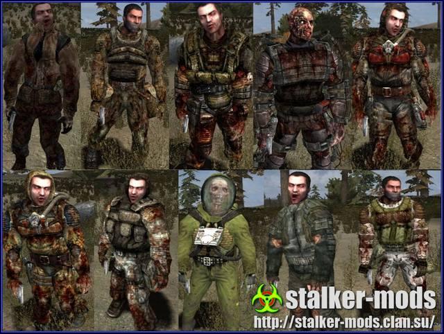 сталкер аддон - новые зомби