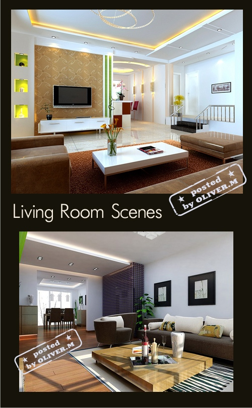 Living Room Interiors for 3ds Max, part 3