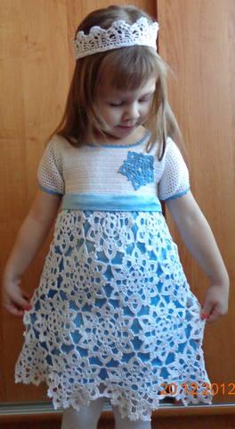 Вязаные платья для девочки своими руками