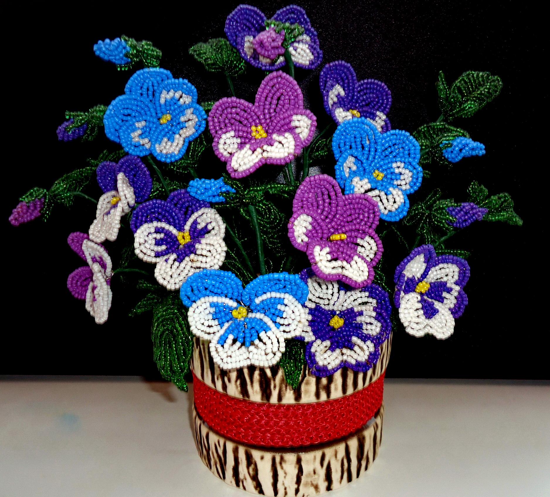 Шедевры из бисера (1) цветок из бисера своими руками, Мастер-класс на.