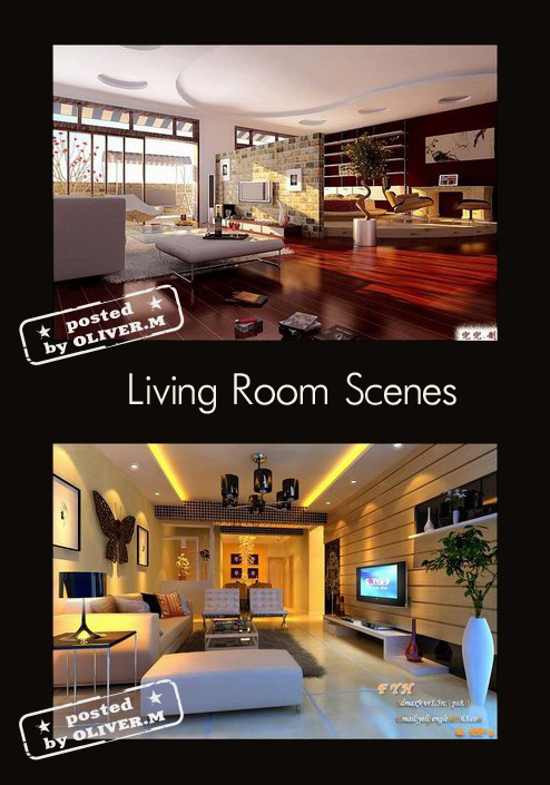 Bedroom interiors scenes for 3ds max part 3 all design for Living room 3ds max