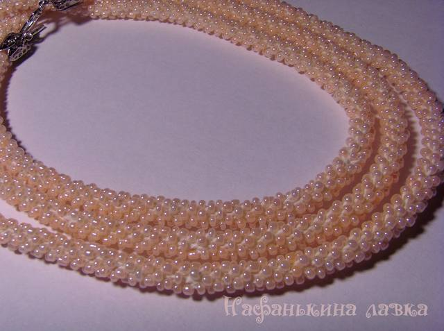 Лариат персиковый 4