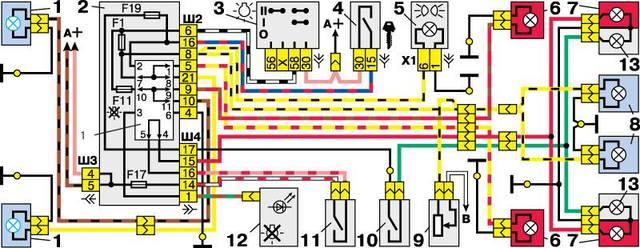 7 - лампы стоп-сигнала во