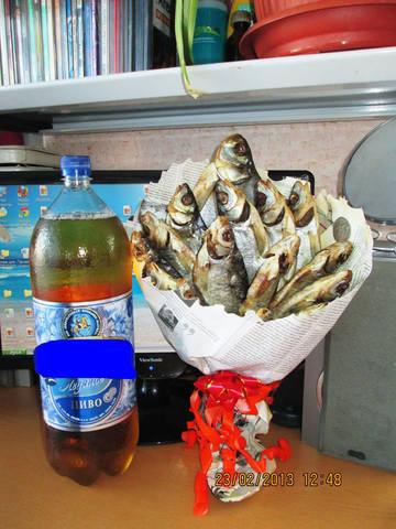 Подарок мужу из пива своими руками