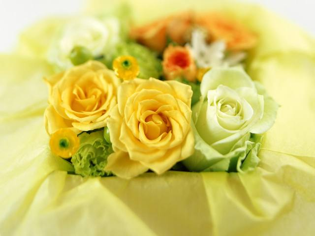Perfect yellow roses bouquet
