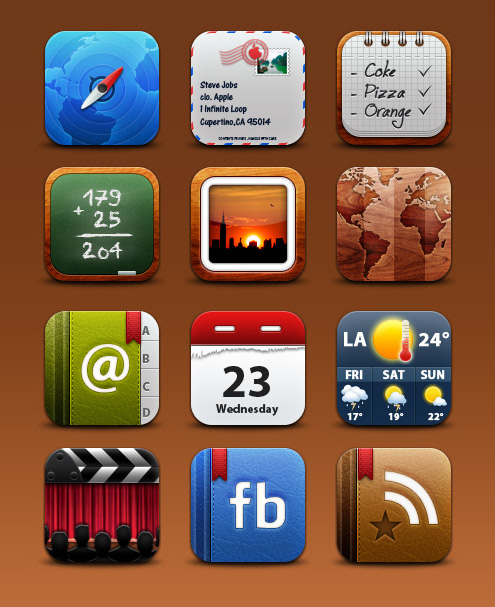 Collection of iPhone Icons 3
