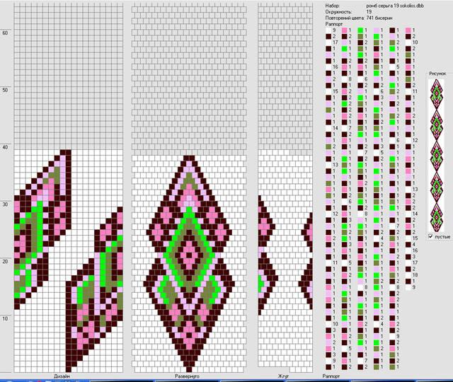 Схемы для кирпичного жгута бисером