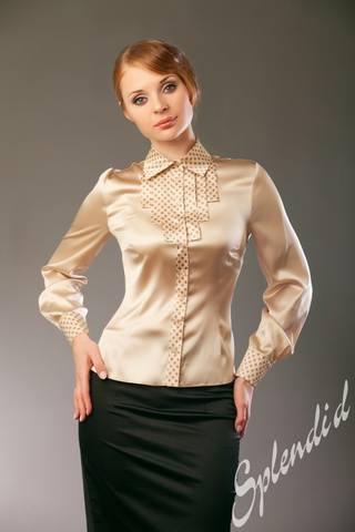 Белая Классические Атласные Блузки