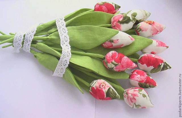 Букет из тюльпанов из ткани своими руками 100