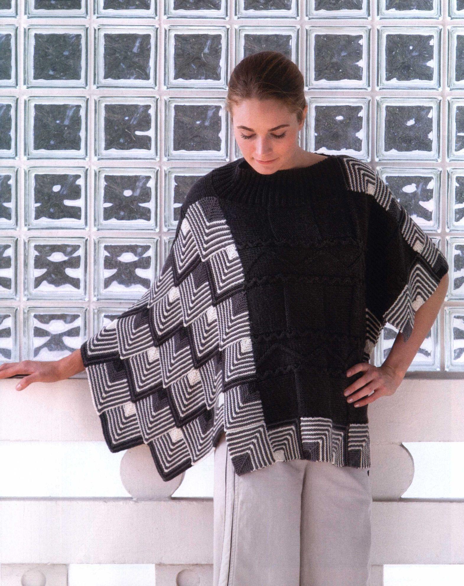 Вязание в черно-белой гамме