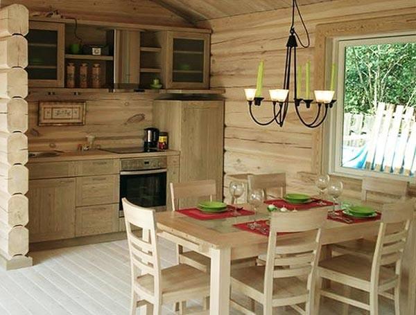 фото интерьеров с деревянной отделкой
