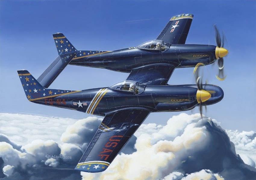 Иллюстрации с авиацией польского художника Zbigniew Kolacha