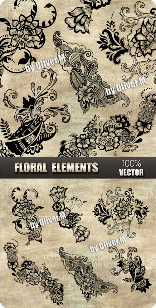 Vector - Floral Design Elements