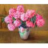 розовые пионы 70х85