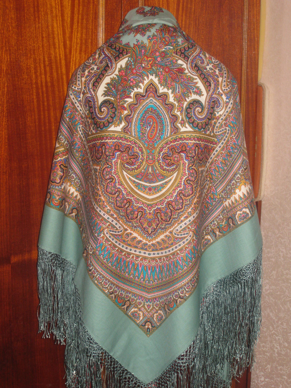Павлопосадский платок волшебные узоры