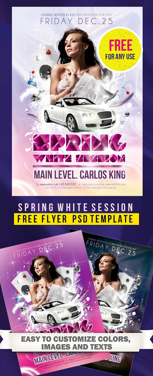 Spring White Session - Flyer PSD Template