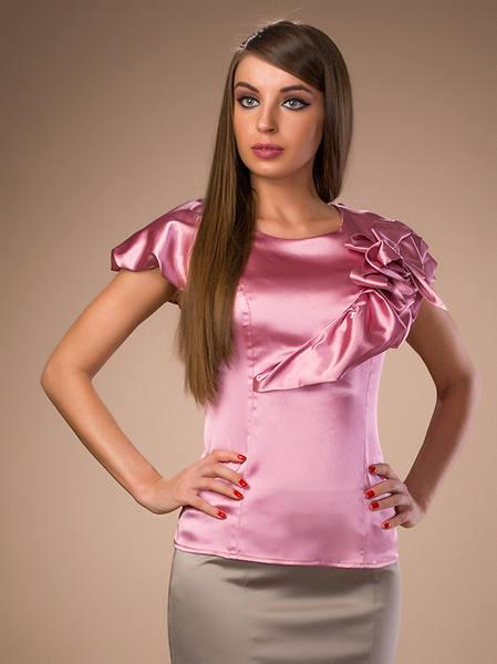 Блузка Из Атласа Для Полных