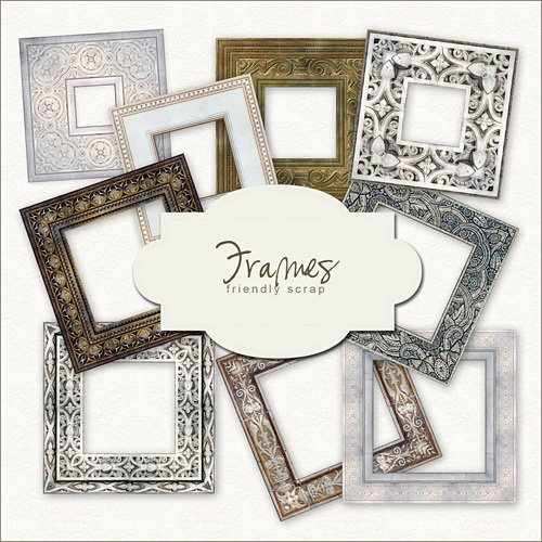 Scrap kit - Collection of Vintage Frames 2