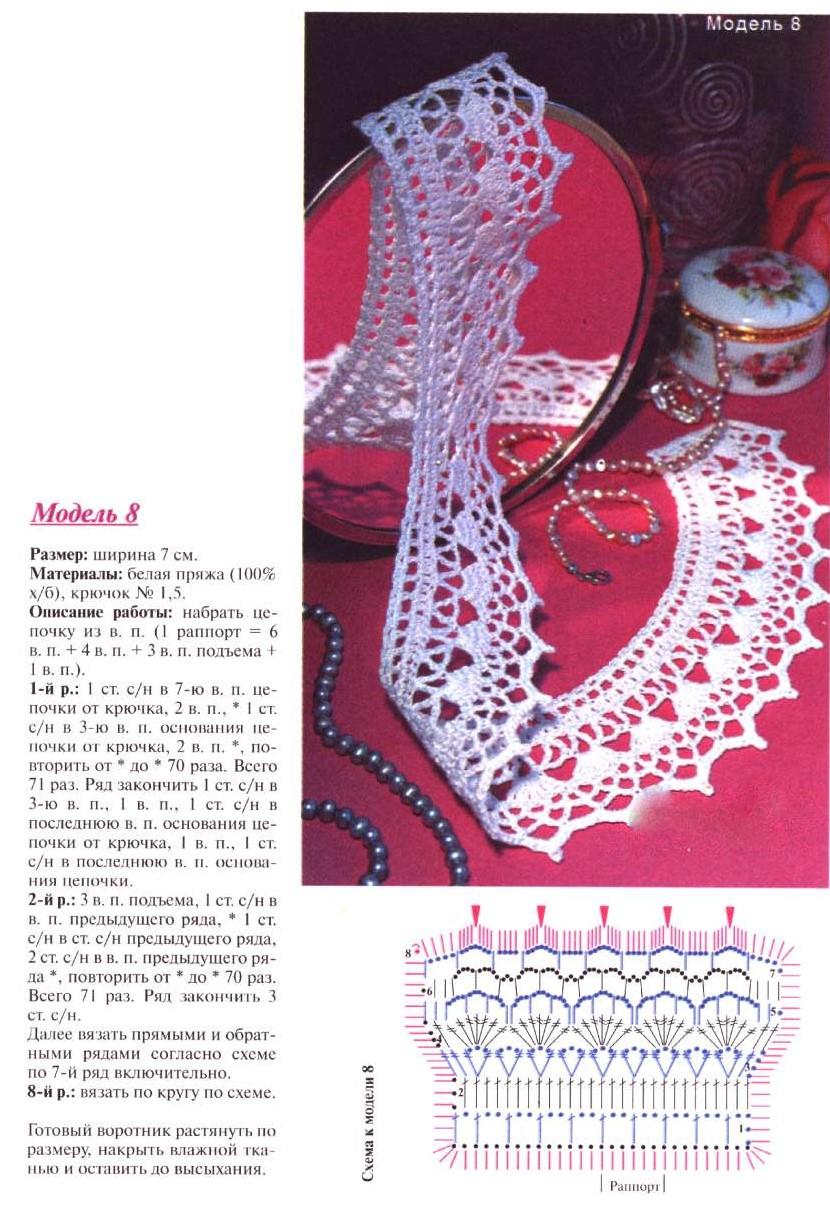 I вязание крючком воротнички