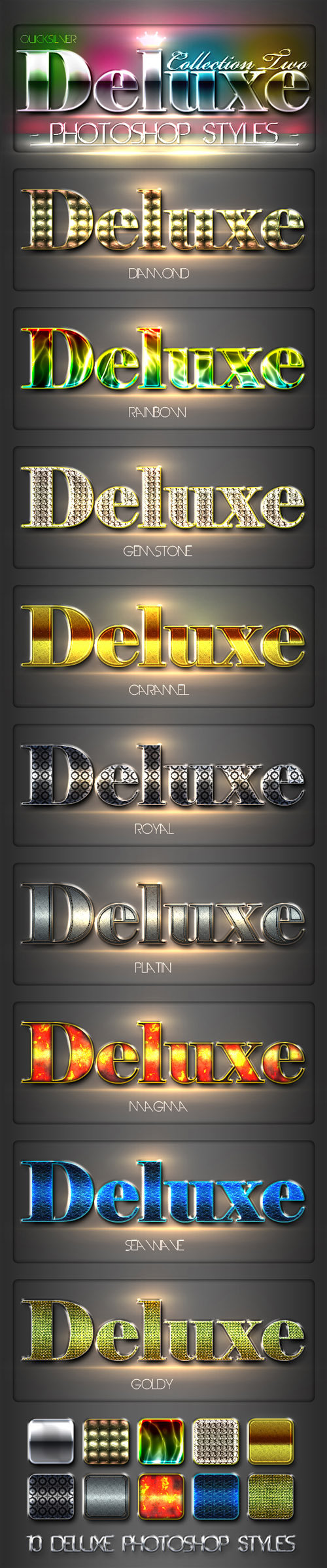 Deluxe Styles for Photoshop