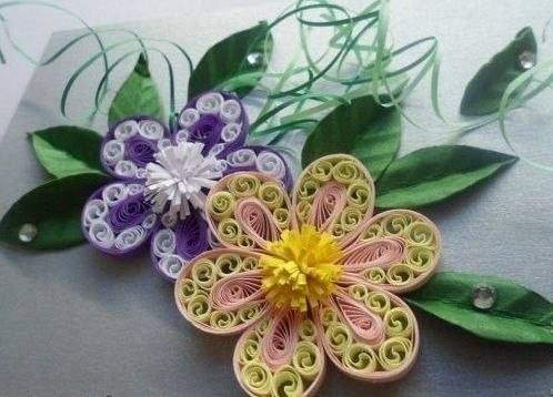 Цветы в технике квиллинг 2121741_m