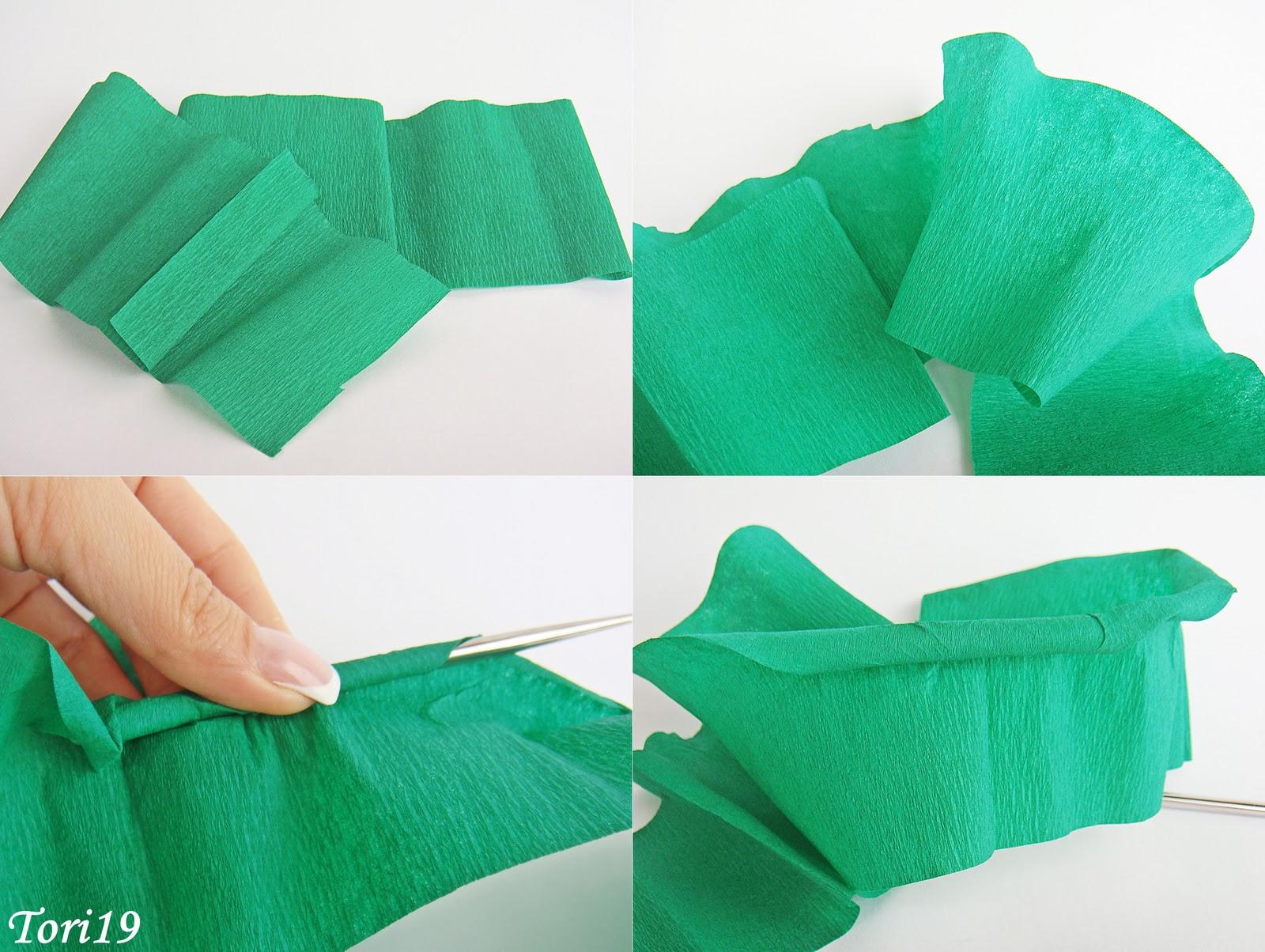 Как оформить край на гофрированной бумаге