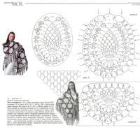 Шаль ананас крючком схемы и описание фото
