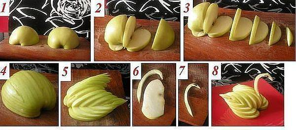 Как сделать красивые фрукты