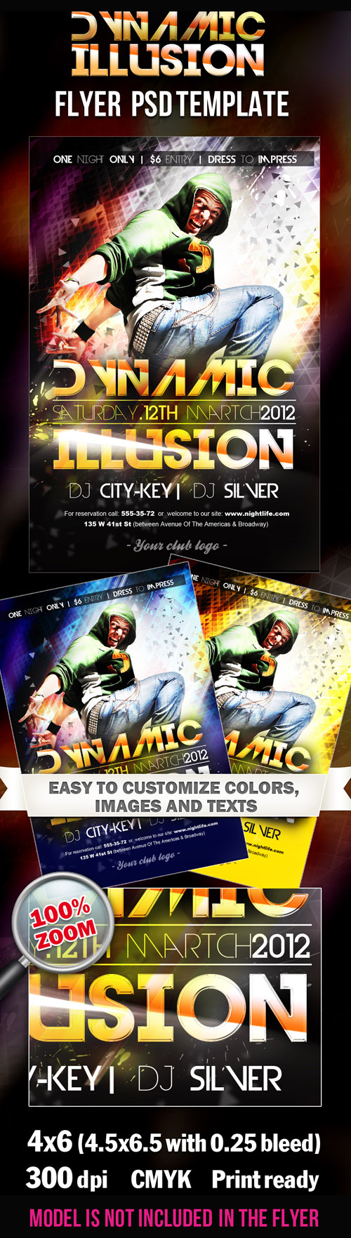 Dynamic Illusion Party - Flyer PSD Template