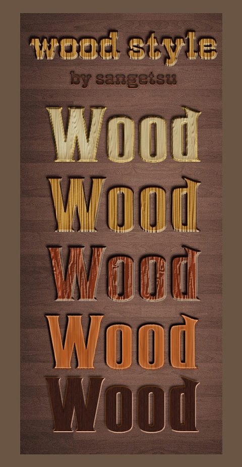 Wood Styles for Photoshop