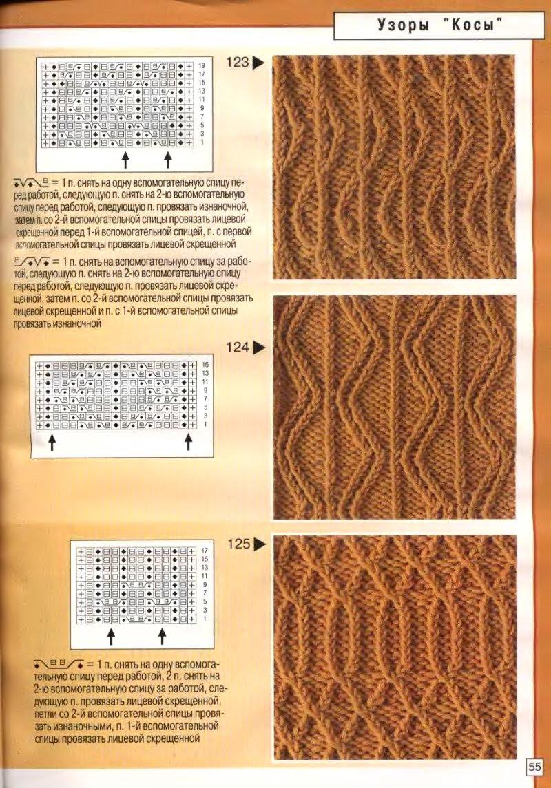Вязание спицами ажурные узоры схемы описания