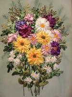 Вышивки лентами фото цветов
