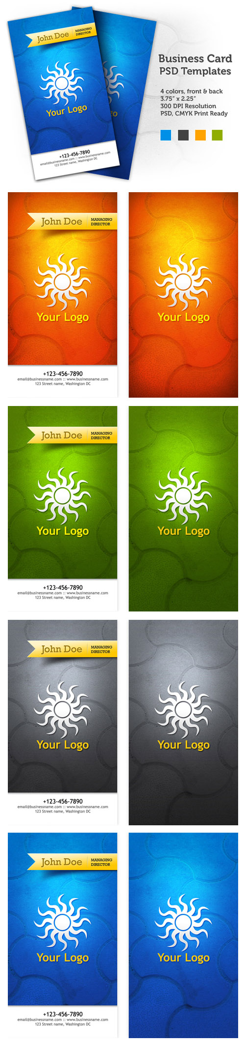 Stylish Business Cards - PSD templates